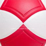 Balón de fútbol de cuero híbrido desinflado bulto barato del PVC