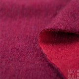 Doubles tissus de cachemire de côtés de 100% pour l'hiver en rouge