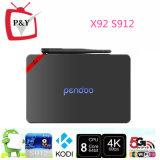X92 Doos van TV van Pendoo Amlogic S912 de Slimme Kodi 17.0 Bluetooth 4.0 Octa Kern 2GB 16GB