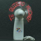 Ventilateurs promotionnels populaires superbes de main de message de DEL avec le logo estampés (3509)