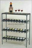 Стеллаж для выставки товаров вина металла крома 6 ярусов супермаркета регулируемый