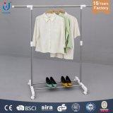 Вешалка одежд штанги Extendable нержавеющей стали одиночная с металлом сетки одевает шкаф