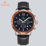 Luxuxmarken-Mann-Leder-Uhr-männlicher Edelstahl-wasserdichte Sport-Armbanduhr 72295