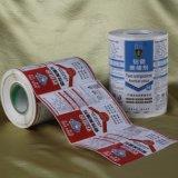 Etiqueta impermeable impresa de encargo de la etiqueta del vinilo para el embalaje
