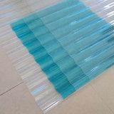Feuille enduite de toiture de couleur ondulée claire de polycarbonate avec la protection UV