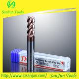 Moinho de extremidade do carboneto de tungstênio para o aço inoxidável