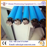 Cnm 7 Wires Post Tension Unbonded PE revestido PC Strand