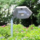 Lumière solaire extérieure de lampe de pelouse de détecteur de Pôle DEL de jardin