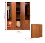 멜라민에 의하여 박판으로 만들어지는 MFC 나무로 되는 옷장 (HX-DR351)
