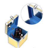Портативные золотистые Aluminium+PU опорожняют случай коробок состава
