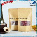 Sac zip-lock de papier d'aluminium de papier de Lj1-214 emballage pour le sac de cadeau/emballage de thé/sucrerie/bijou/pain
