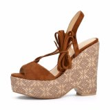 (Donna-in) sandali Lace-up della piattaforma delle donne dell'alto tallone di stile di modo