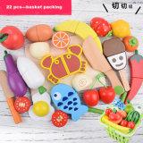 Alimento di legno per i capretti, alimento per i bambini, giocattolo di legno allegro tagliente felice del giocattolo di taglio del giocattolo del gioco di ruolo dell'alimento