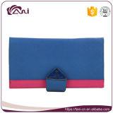 Бумажник монетки PU голубого типа застежки -молнии цвета Handmade кожаный