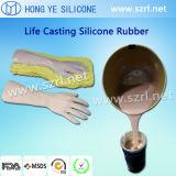 Borracha de silicone da platina para fazer a partes do corpo protéticas o tatuagem/exposição
