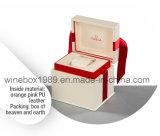 Qualität MDF-hölzerner lederner Uhr-Geschenk-Gummikasten