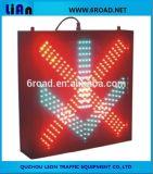 Красный Крест безопасности дороги 600mm и зеленая стрелка в одном свете лампы островка безопасност блока СИД
