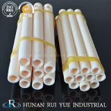 Alto tubo di ceramica funzionante dell'allumina di temperatura per il pezzo fuso