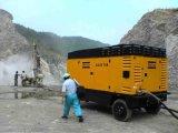 地図書のCopco 1060cfm鉱山のための携帯用ねじ空気圧縮機