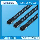 Splitter-Farben-Edelstahl-Strichleiter-einzelne Widerhaken-Verschluss-Kabelbinder-Reißverschluss-Gleichheit