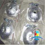 Aluminiumanode, die Gerät für Meerwasser-Kühlsystem-Streifen-Typen ausstattet