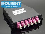 Cassette MPO de MPO al cable de la corrección del LC Om4
