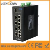 8 Megabits y 2 Gigabit Tx Ethernet Industrial Switch de red