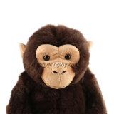 BSCI 고품질 브라운 견면 벨벳 연약한 채워진 고릴라 동물 장난감
