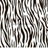 le bande Pigment&Disperse della zebra 100%Polyester hanno stampato il tessuto per l'insieme dell'assestamento
