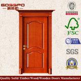 Entrée principale d'entrée de vente en gros de porte en bois solide de nature (XS2-044)