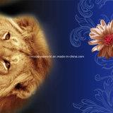 100%Polyester le lion rêveur Pigment&Disperse a estampé le tissu pour le jeu de literie