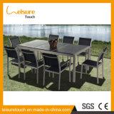 La polvere poco costosa esterna di disegno semplice del giardino ha ricoperto l'insieme di alluminio del tavolino da salotto di svago della mobilia