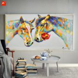 ハンドメイドのホーム装飾のLovestruckの馬の油絵