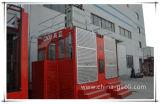 alzamiento doble de alta velocidad Sc200/200 de la construcción de la jaula 2t*2
