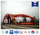 100m Überspannungs-Stahlgefäß-Bogen-Stahlkonstruktion-Brücke