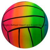 Bola de praia inflável do arco da cor do arco-íris para o jogo da água