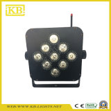 O carregamento da bateria e WiFi LED plana PAR