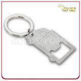 Apri di bottiglia del metallo Keychain con il marchio morbido su ordinazione dello smalto