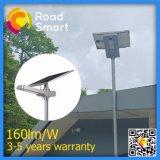 luz de rua solar ao ar livre esperta do diodo emissor de luz do sensor de movimento de 160lm/W IP65