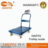 Haoyu neue drücken Entwurfs-Laufkatze-wiegende Schuppe mit 4 Rädern von Hand ein