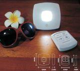 Luz sem fio do disco do gabinete da noite da lâmpada de tabela do diodo emissor de luz do telecontrole esperto