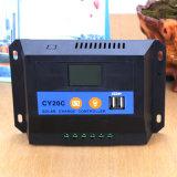Contrôleur/régulateur solaires de charge de Cy20c 12V/24V 20A PWM
