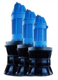 Fluxo axial ou bombas submergíveis misturadas