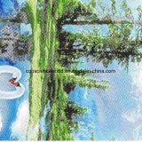 100%Polyester a cisne Pigment&Disperse imprimiu a tela para o jogo do fundamento