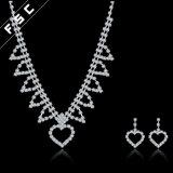 Fsc Juwelen van de Vorm van het Hart van de Juwelen van de Manier de Bruids die in Kristal worden geplaatst