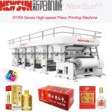 Línea de alta velocidad impresora de Flexo del conjunto de la cerveza Xyra-850