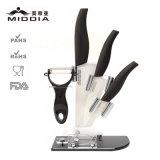シェフの包丁のためにセットされる5PCSコックのツールの陶磁器のナイフ