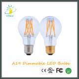Luz al aire libre del bulbo de cristal del nostálgico LED del neodimio A19/A60