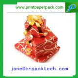 Rectángulo de regalo de encargo magnífico de empaquetado del papel de la cinta del rectángulo