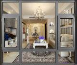 Окно Tempered стекла двойника цены по прейскуранту завода-изготовителя изготовления Китая алюминиевое